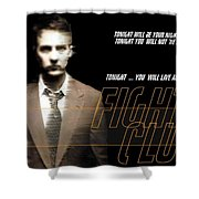5499 Fight Club Hd S Black Shower Curtain