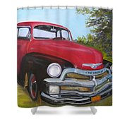 55 Chevy Truck Shower Curtain