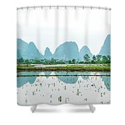 Karst Rural Scenery In Spring Shower Curtain
