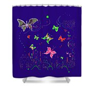558   Butterflies  V Shower Curtain