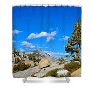 D L Landscape Shower Curtain
