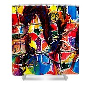 Jugglery Of Colors Shower Curtain