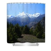 Landscape Az Shower Curtain