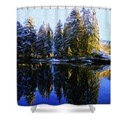 Nature Landscapes Prints Shower Curtain