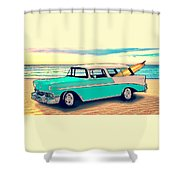 56 Nomad By The Sea In The Morning With Vivachas Shower Curtain