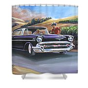 57 Bel Aire In Vineyards Shower Curtain