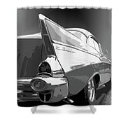 57 Chevy Horizontal Shower Curtain