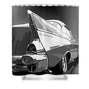 57 Chevy Horizontal Shower Curtain