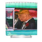 57 Chevy Man Shower Curtain