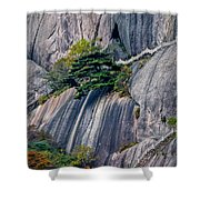 5786- Yellow Mountains  Shower Curtain