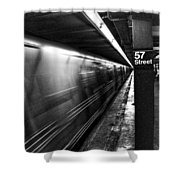57th Street Platform Shower Curtain by Barry C Donovan