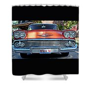 '58 Chevy Comin' Atcha Shower Curtain