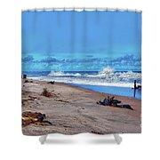 58- Sapphire Surf Shower Curtain