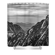 5818- Yellow Mountains Black And White Shower Curtain