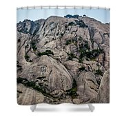 5875- Yellow Mountains Shower Curtain