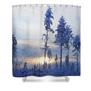 Landscape On Nature Shower Curtain