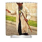 Traversing Santiago De Cuba, Cuba. Shower Curtain