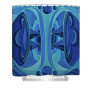 5th Mandala - Throat Chakra Shower Curtain