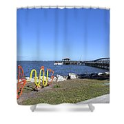 Indian River Lagoon At Eau Gallie In Florida Usa Shower Curtain