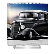 1934 Ford Five-window Coupe Shower Curtain