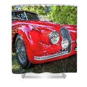 1954 Jaguar Xk 120 Se Ots  Shower Curtain