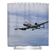 A U.s. Air Force A-10 Thunderbolt II Shower Curtain