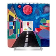 Here And Now Shower Curtain