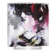 Abstract Figure Art Shower Curtain