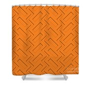 Abstract Orange, White And Red Pattern For Home Decoration Shower Curtain