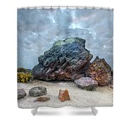 Agglestone Rock - England Shower Curtain