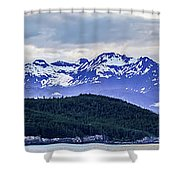 Alaska Nature And Mountain In June At Sunset Shower Curtain