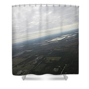 An Aerial View Of Fort Myers Shower Curtain
