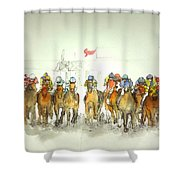 an American Pharoah born album Shower Curtain