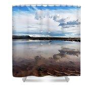 Back Beach - Lyme Regis Shower Curtain
