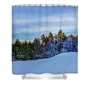 Beautiful Winter Landscape At Timberline West Virginia Shower Curtain