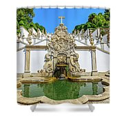Bom Jesus Staircase Shower Curtain