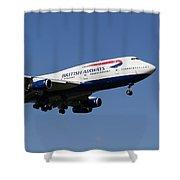 British Airways Boeing 747 Shower Curtain