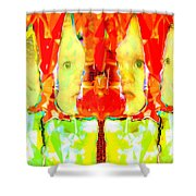 6 Candles Of Christmas Shower Curtain