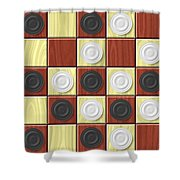 Checkerboard Generated Seamless Texture Shower Curtain