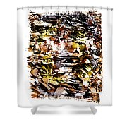 Compressed Pile Of Paper Products Shower Curtain