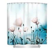 Corn Poppy Flowers Shower Curtain by Nailia Schwarz