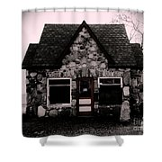 6 Corners Gas Station Shower Curtain