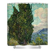 Cypresses Shower Curtain