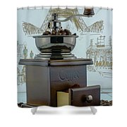 Daily Grind Coffee Shower Curtain
