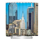 Dallas Texas City Skyline At Daytime Shower Curtain