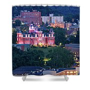 Downtown Morgantown And West Virginia University Shower Curtain
