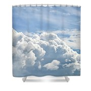 Dramatic Cumulus Clouds With High Level Cirrocumulus Clouds For  Shower Curtain