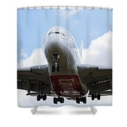 Emirates Airbus A380 Shower Curtain