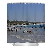 Enjoying A Day At The Beach Shower Curtain