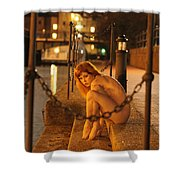 Fawnya Frolic Shower Curtain